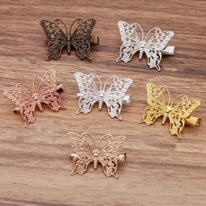 10pcs 36*26mm Butterfly Hair Clips Barrettes