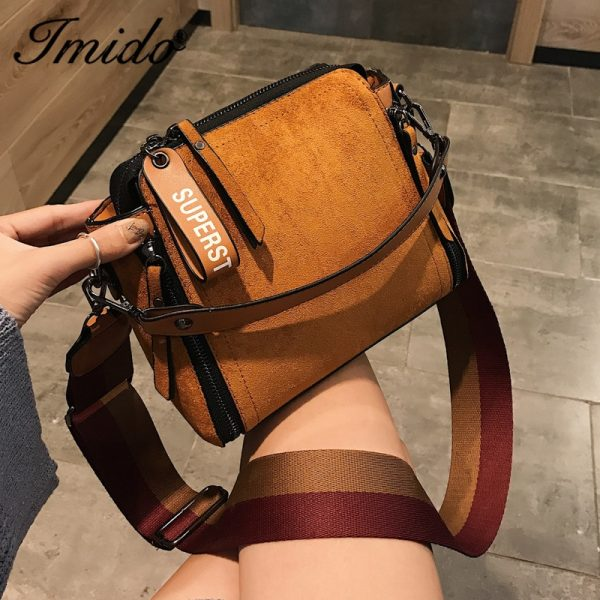 Women Messenger Bags Shoulder Vintage Bag Ladies Crossbody Bag Handbag Female Tote Leather Clutch Female Red Brown Bags Wallet