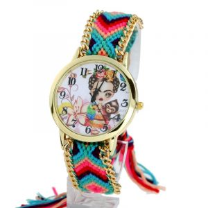 Fashion Wristwatch Lace Gold Chain Braid Watch
